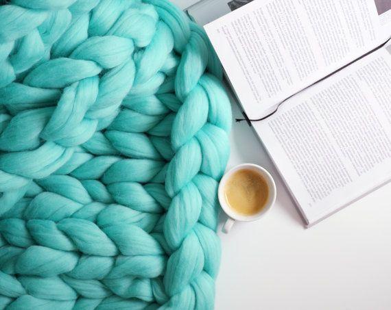 Chunky knit blanket 02
