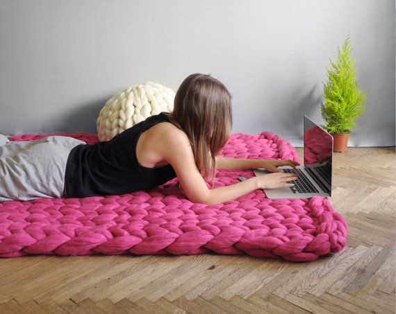 Chunky knit blanket 05