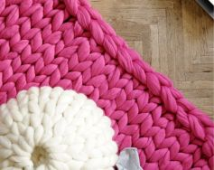 Chunky knit blanket 06