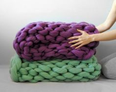 Chunky knit blanket 07