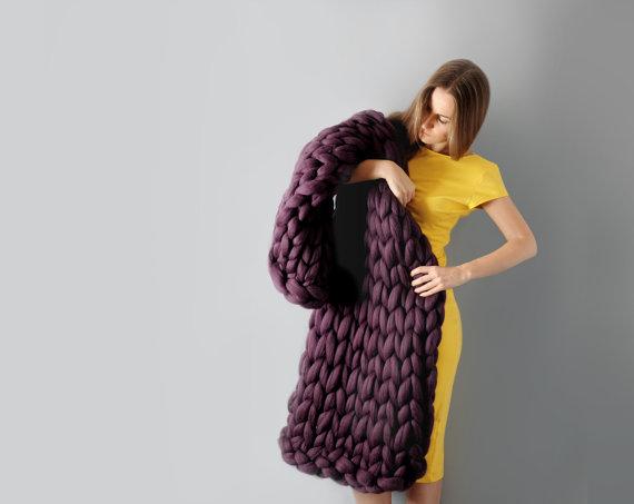 Chunky knit blanket 09