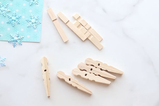 glue-clothespins-snowflakes