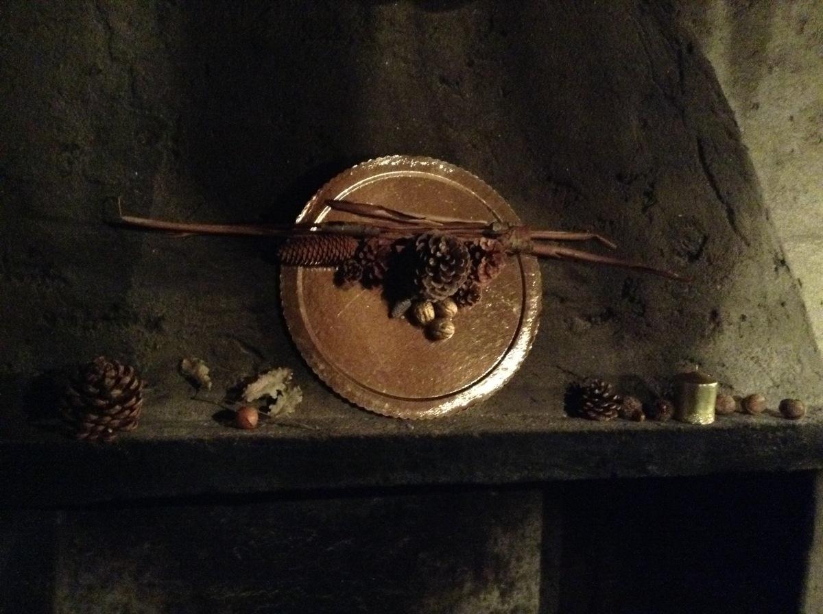 Centrotavola realizzato con i frutti del bosco