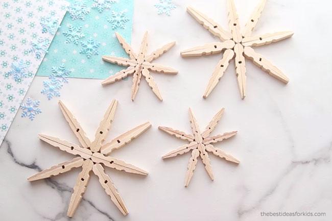 make-clothespin-snowflakes