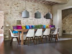 Grande tavolo da pranzo in legno