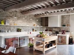 Cucina realizzata in muratura