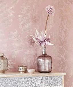 Siduri | Carta da parati con fiori stilizzati